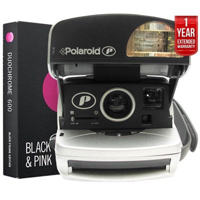 Polaroid 600 Round Camera Silvr+Instant Film+1 Year Extended Warranty