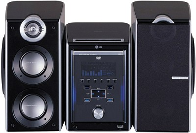 LFU850 -  CD bookshelf Audio System w/ 3-way Speakers & Side-woofers