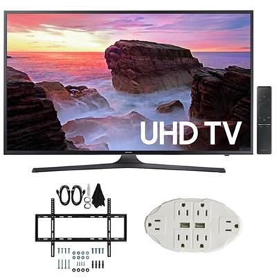 43` 4K Ultra HD Smart LED TV (2017 Model) w/ Wall Mount Bundle