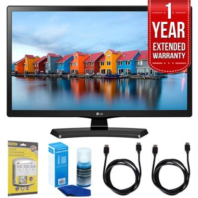 24LH4830-PU 24` Smart LED TV (2017 Model) w/ Extended Warranty Bundle
