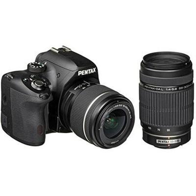 K-50 Digital SLR Camera Kit with 18-55mm AL WR Lens + DA L 55-300mm - OPEN BOX