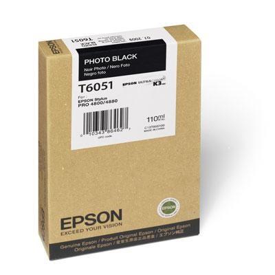 Photo Black Ultrachrome K3 Ink Cartridge - T605100