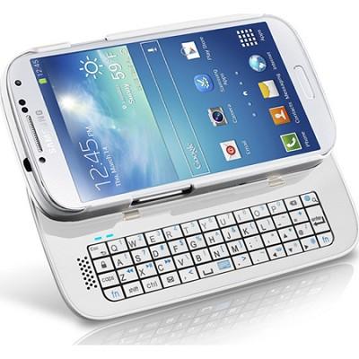 12555 Sliding Bluetooth Keyboard Case for Samsung Galaxy S4 - White