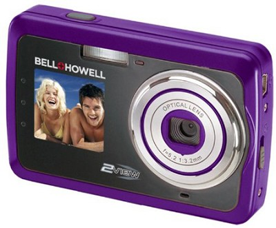 2View 12 MP Dual LCD Digital Camera - Purple