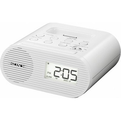 ICF-C05IP White Clock Radio for iPod