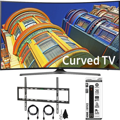 UN65KU6500 - Curved 65-Inch 4K Ultra HD LED Smart TV w/ Flat Wall Mount Bundle