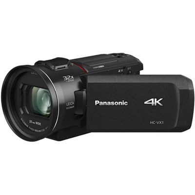 HC-VX1K 4K Ultra HD 24x Optical Zoom Camcorder with 25mm Wide Leica Lens