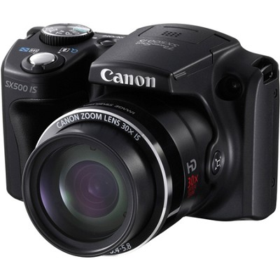 PowerShot SX500 IS 16MP Digital Camera (Black) - OPEN BOX