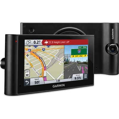 dezlCam LMTHD 6` GPS Truck Navigator w/ Dash Cam + Lifetime Map/Traffic Updates