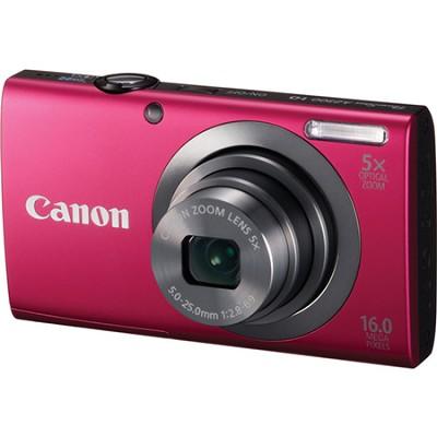 PowerShot A2300 16MP Red Digital Camera 5x Optical Zoom 720p HD Video