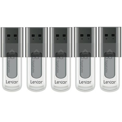 5-Pack of 8GB JumpDrive High Speed USB Flash Drives - Black (Bulk Packed)
