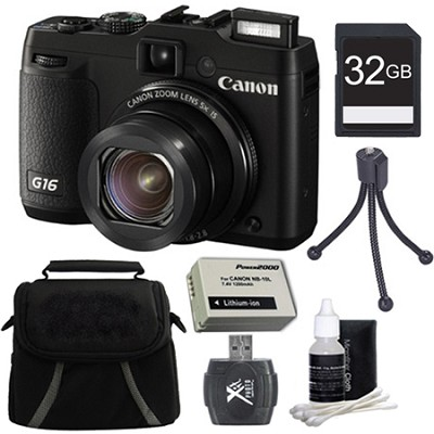 PowerShot G16 12.1 MP Digital Camera 32GB Kit
