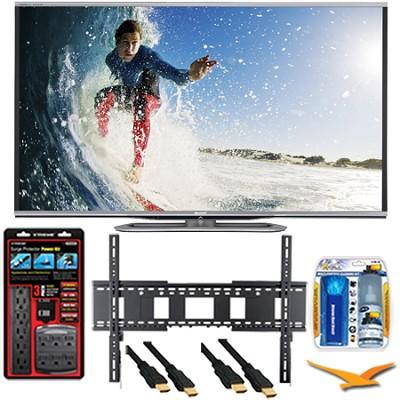 LC-70LE857U Aquos 70-Inch 3D Wifi 240Hz 1080p LED TV Plus Wall Mount Bundle