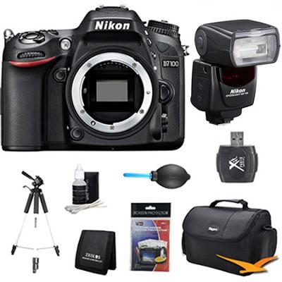 D7100 DX-Format Digital HD-SLR Body with SB-700 AF Speedlight Pro Flash Bundle