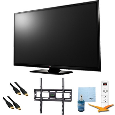 60-Inch Plasma 1080p 600Hz Smart HDTV Plus Mount and Hook-Up Bundle (60PB6600)