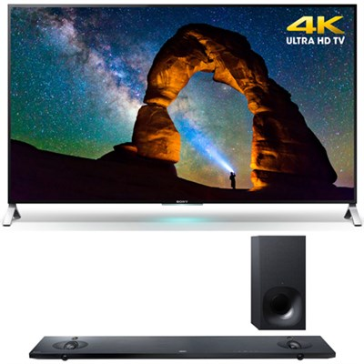 XBR-55X900C - 55-inch 4K Ultra HD 3D Smart LED TV w/ Sony HT-NT5 Sound Bar