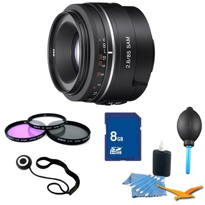 SAL85F28 - 85mm f/2.8 SAM Mid-range Telephoto Lens Essentials Kit