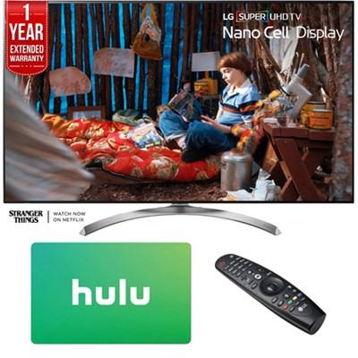 SUPER UHD 55` 4K HDR Smart LED TV (2017 Model) w/ Hulu Card + Extended Warranty