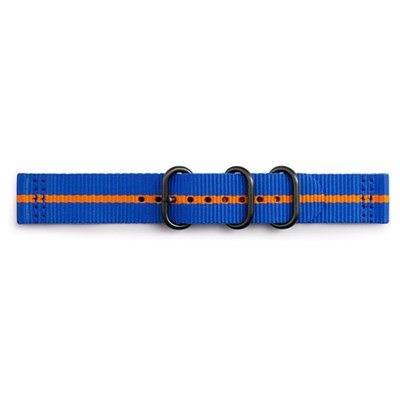 Premium Nato Strap for Gear Sport (20mm)-Blue w/ Orange- GPR600BREECAJ