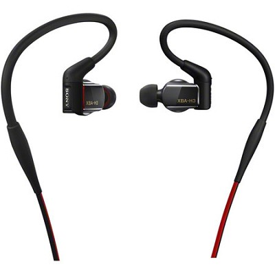 Hybrid, 3-way, In-Ear Headphones (Black) - XBA-H3