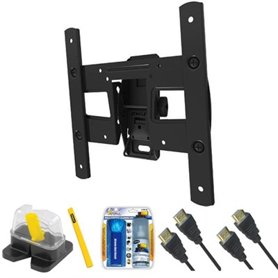 Pro Series Medium Tilt TV Mount & Set Up Kit for 13`-37` TVs up to 40LB