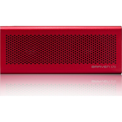 570 Portable Bluetooth Speaker, Speakerphone, and Charger (Red) BZ570RBP