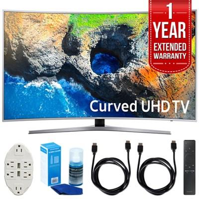 48.5` Curved 4K UHD Smart LED TV (2017) w/ Extended Warranty Bundle