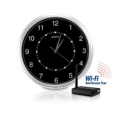 Wi-Fi Interference-Free Wireless Wall-Clock Hidden Camera Kit