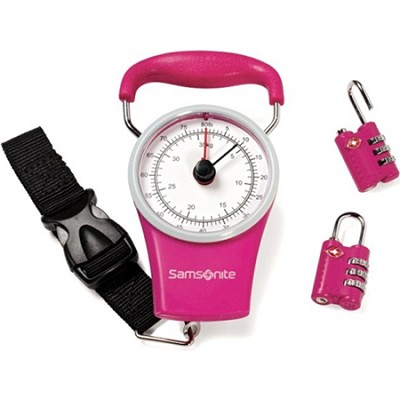 Luggage Scale and Combination Lock Kit - Pink