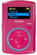Clip MP3 Player 2GB - Pink