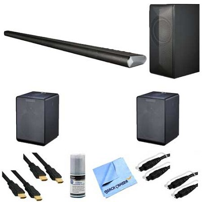 LAS751M - 360 Watt 4.1 Channel Smart Soundbar + 2 NP8340 Wireless Speakers