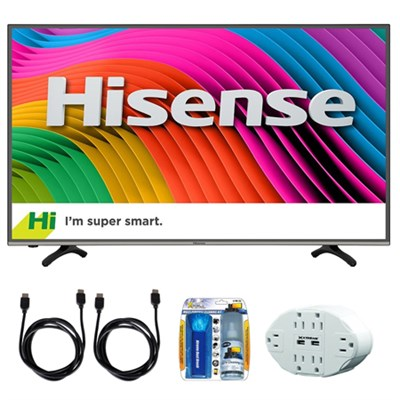 H7 43` 4K Ultra HD Smart LED TV with Built-In Wi-Fi w/ accessory bundle