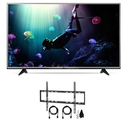 49-Inch 4K Ultra HD HDR Smart LED TV Bundle with Wallmount & HDTV Hook up Kit