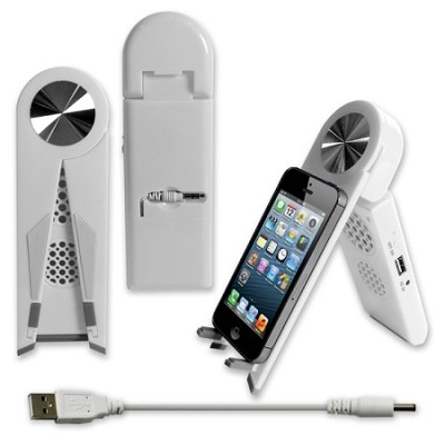 Stand Speaker for Tablets & Smartphones in White