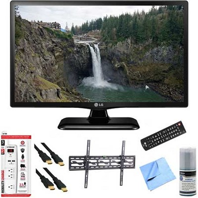 24LF4520 - 24-Inch HD 720p 60Hz LED TV Plus Tilt Mount & Hook-Up Bundle