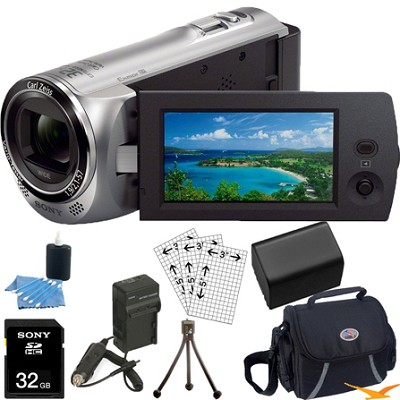 HDR-CX220/S Full HD Camcorder (Silver) Ultimate Bundle