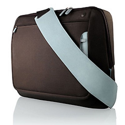 Messenger Bag for Notebooks  up to 15.4` Brown / baby Blue
