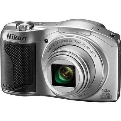 COOLPIX L610 16MP 3.0-inch LCD Silver Digital Camera