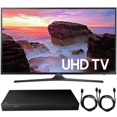 UN75MU6300FXZA 74.5` 4K UHD Smart LED TV 2017 + Blu-Ray Player Bundle