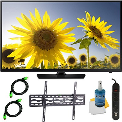 UN40H4005 - 40-Inch HD 720p Slim LED TV CMR 60 Plus Tilt Mount & Hook-Up Bundle