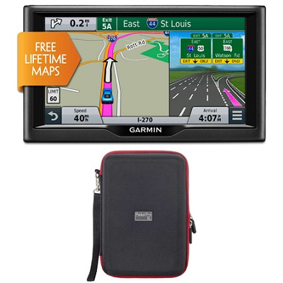 nuvi 67LM 6` Essential Series 2015 GPS System with Lifetime Maps Case Bundle