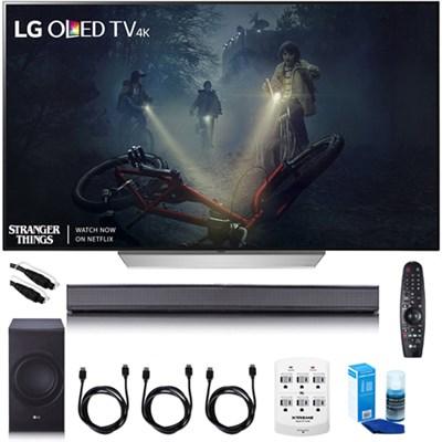 55` C7P OLED 4K HDR Smart TV - OLED55C7P w/LGSJ8 Sound Bar Bundle