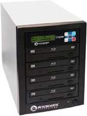 Blu-Ray Tower Duplicator, HDD to 4(6X BD-R/RE, 16X DVD-/+R), 500GB HD