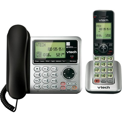 CS6649 DECT 6.0 2 Handset Landline/Cordless Telephone Answering System Caller ID