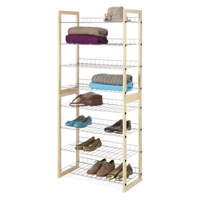 Closet Shelves Wood Chrome