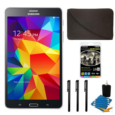 Galaxy Tab 4 Black 8GB 7` Tablet and Case Bundle