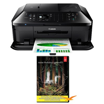 PIXMA MX922 Wireless Inkjet Office All-In-One Printer w/ Photoshop Lightroom 5
