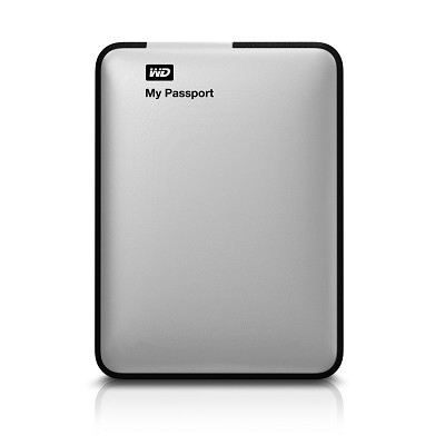 My Passport 1 TB USB 2.0/3.0 Portable Hard Drive -  WDBBEP0010BSL-NESN (Silver)