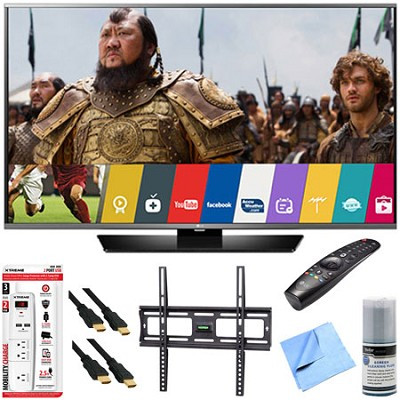 60LF6300 - 60-inch 120Hz LED Smart HD TV w/ Magic Remote Mount & Hook-Up Bundle