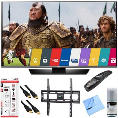60LF6300 - 60-inch 120Hz LED Smart HD TV w/ Magic Remote Mount & Hook-Up Bundle